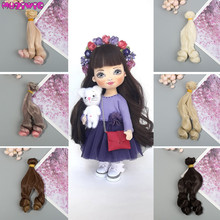 Heat Resistant Wire Doll Accessories 1pc Curly Hair Wefts for Kurhn/BJD/SD/Pullip/Blyth/American Doll DIY Doll Wig Hairs кукла pullip little dal doll panty