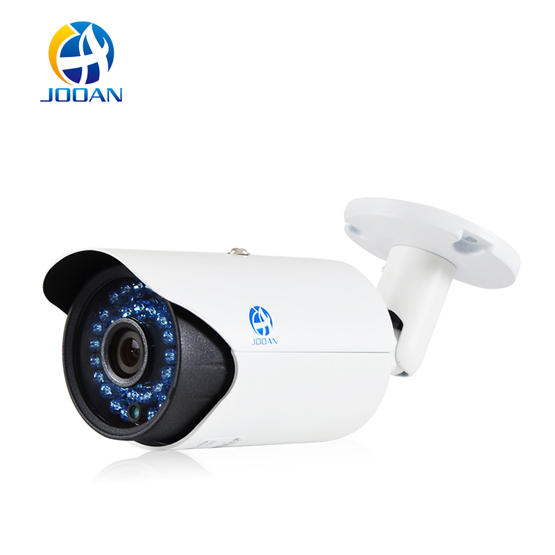 JOOAN Outdoor Waterproof ONVIF POE Bullet IP Camera P2P, Android IOS phone remote monitoring HD Lens 36pcs IR Leds wistino cctv camera metal housing outdoor use waterproof bullet casing for ip camera hot sale white color cover case