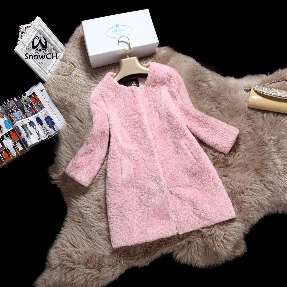 Free Shipping New Real Merino Sheep Fur Coat Women Fur