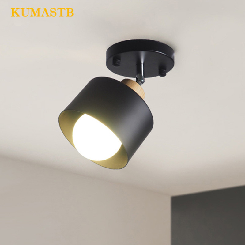 Minimalist Entrance Bedroom Ceiling Lamp Small Night Lamp Aisle Balcony Living Room Iron LED Ceiling Lighting ceiling lighting minimalist modern balcony study bedroom lighting led intelligent atmospheric living room dining room