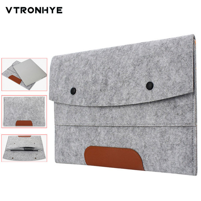 279493522aac US $5.27 12% OFF|11 13 14 15 17 inch Laptop Sleeve Ultra Slim Wool Felt  Laptop Sleeve Bag for Macbook Air Pro Retina Notebook Case Pouch 15.6