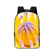 3D цветок ноутбук рюкзак для девочек, студентов колледжа bookbags, mochila, Довольно Компьютер рюкзак для Женщин, подросток девчушки день пакеты