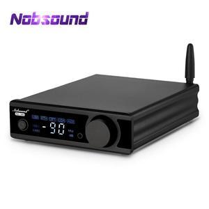 Image 1 - Nobsound amplificador potente com bluetooth, hifi stereo, bluetooth 5.0, com nfc, active subwoofer, amp usb/opt/coax, dac decodificador,
