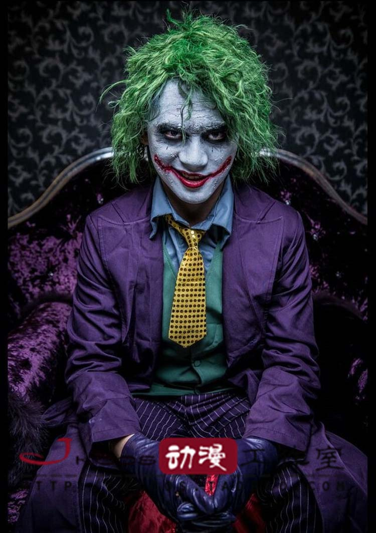 Batman The Dark Knight Joker Costume Batman Joker Suit Outfits Hallowen Cosplay Costume Custom Made For Halloween-in Movie u0026 TV costumes from Novelty ...  sc 1 st  AliExpress.com & Batman The Dark Knight Joker Costume Batman Joker Suit Outfits ...