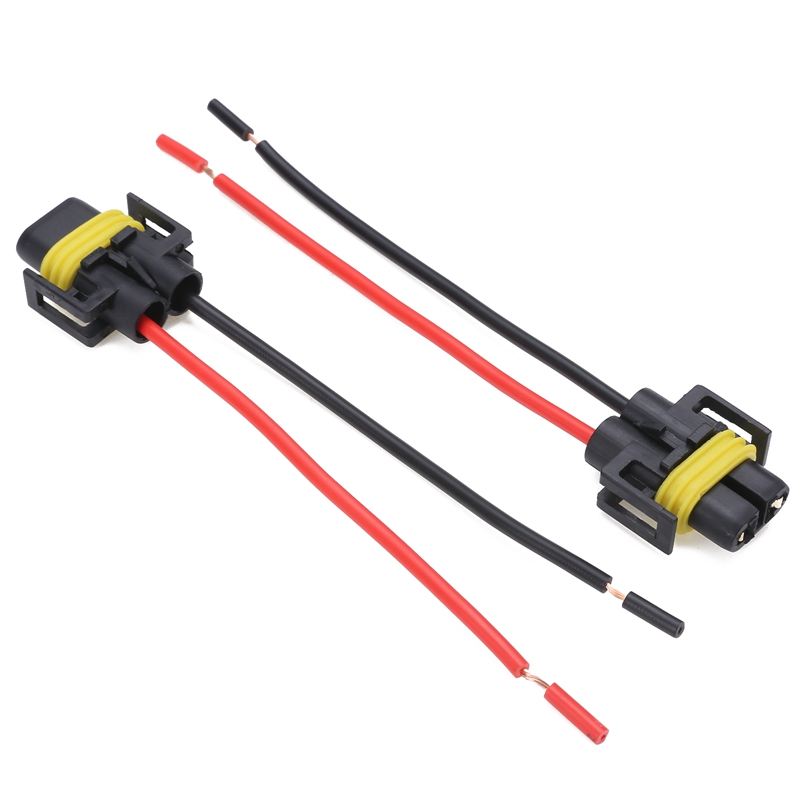 2PCS H8 H11 Connector Car Headlight Fog Light Female Adapter Auto Wiring Harness Socket Wire Connector Cable Plug