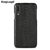Leather python skin cover back cover for huawei p9 lite 2017 case python skin high end custom phone case For HUAWEI P20 pro