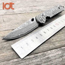 LDT Sebenza 21 Folding Knife Damascus Blade Titanium Handle Tactical  Survival Knife Camping Pocket Outdoor Hunting Knives Tools цена 2017