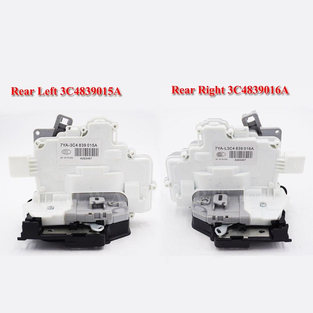 Livraison rapide 2 PC paire arrière pour VW PASSAT B6 SKODA SUPERB A4 A5 Q5 Q7 TT CENTRAL serrure de porte loquet actionneur 3C4839015a 3C4839016a