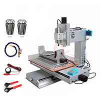 3D CNC engraving machine 3040 2200W 5axis metal aluminum milling router