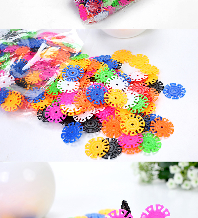 150pcs montessori snow snowflake chenille toy crafts pipe cleaner