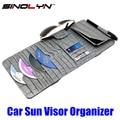 Accesorios del coche Estilo Croco CD Del Visera de Sol Gafas de Tarjeta de Licencia de Conducir de Cuero Universal Caja Del Sostenedor Del Organizador De Almacenamiento