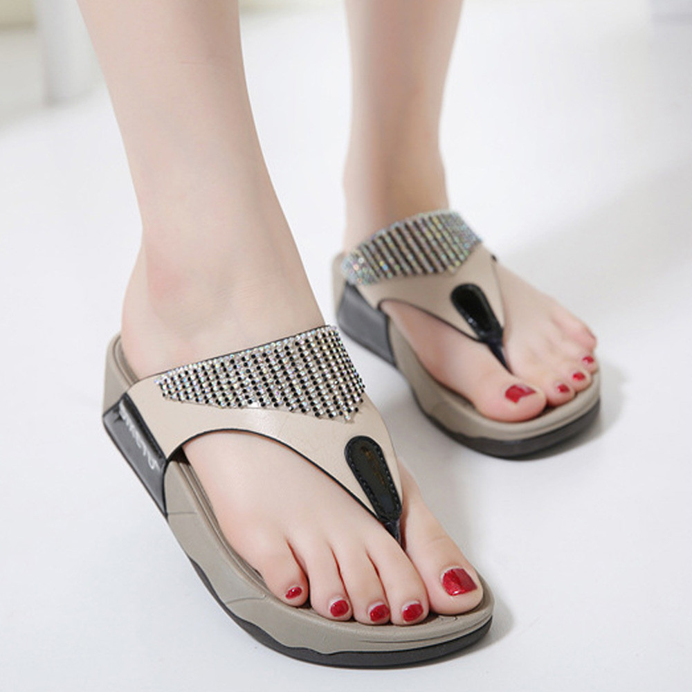 SAGACE 2018 Hot Fashion women slippers Fashion Summer New Sandals Womens Shoes Bohemian Wedge Flops Comfortable Beach Sandals