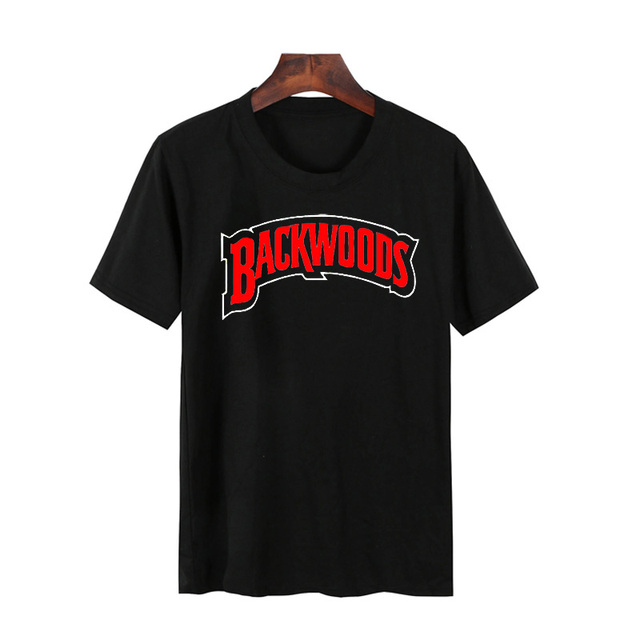 Backwoods T-Shirt Men Casual Funny Graphic Cigar Smokers Weed T Shirt Summer Round Neck Fashion Male Tee Shirts