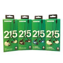 ใหม่SE215 Mic Earphons Hi Fiสเตอริโอตัดเสียงรบกวน3.5มม.SE 215ไมโครโฟนหูฟังDetchablหูฟังกล่องVS SE535 SE 535