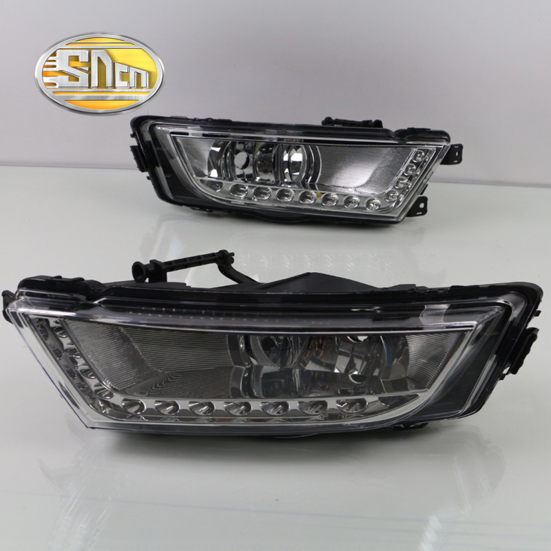 SNCN LED Daytime Running Light For Skoda Octavia A7 MK3 2014 - 2016,Car Accessories Waterproof ABS 12V DRL Fog Lamp Decoration