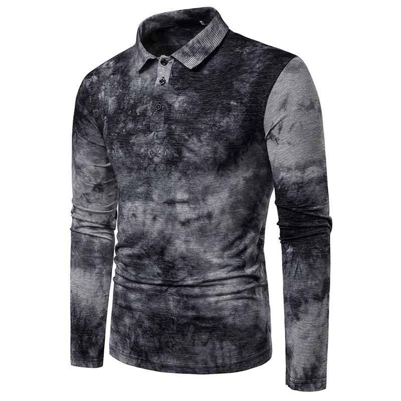 Polo   Shirt Men Plus Gradation Spring Simplicity Anti-Pilling Brand Men'S Long Sleeve Casual Male Shirt Mens   Polo   Shirts XXL