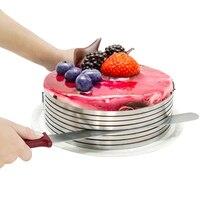 Thickened Stainless Steel Cake Ring Cake Mold Metal Mousse Cake Ring Fashion Creative DIY Slicing Kit