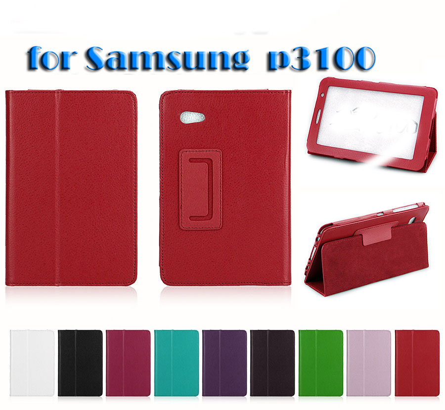 Folio PU Leather Case Cover For Samsung Galaxy Tab 2 7.0 P3100 P3110 Stand Tablet Cover Case Fundas 2 folding luxury folio stand holder leather case protective cover for samsung galaxy note pro 12 2 p900 p901 p905 12 2 tablet