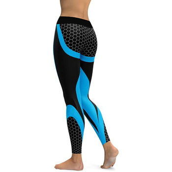 Mesh Pattern Print Leggings fitness Leggings For Women Sporting Workout Leggins Elastic Slim Black White Pants 8