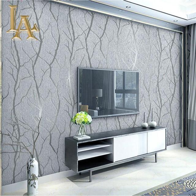 Moda abstracta gruesa flocado rayas papel tapiz para - Papel pared moderno ...