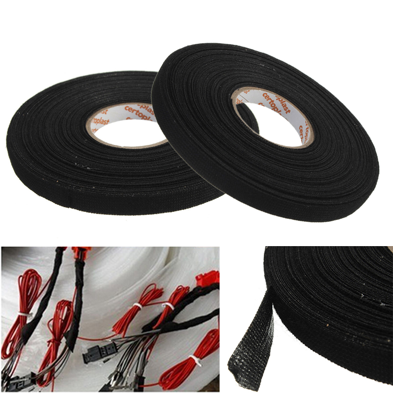 online get cheap wire loom aliexpress com alibaba group 1pc wiring harness tape black adhesive cloth fabric tape cable for looms car 25m x 9mm