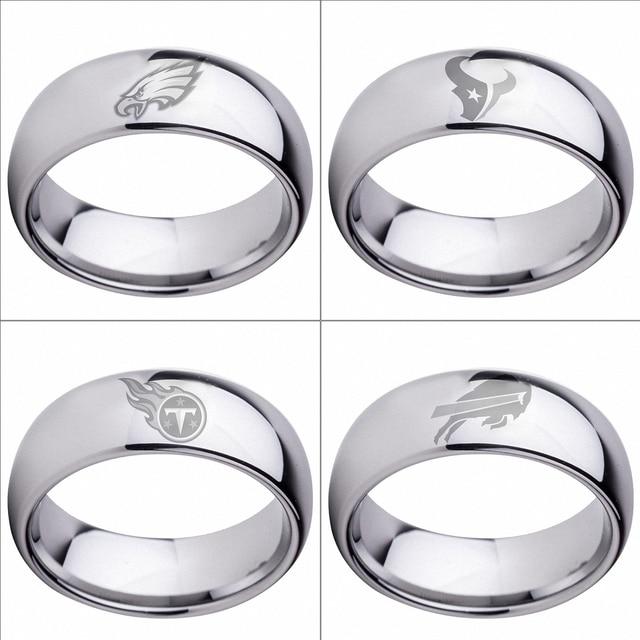 Hot Sales Luxury Mens Wedding Ring Philadelphia Eagles Houston