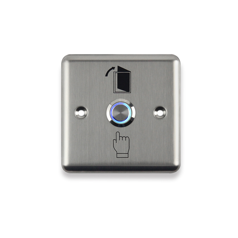 Stainless Steel Exit Button With Led Light Push Switch