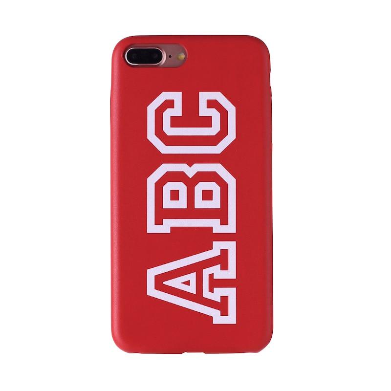 Настоящая кожа, роскошный, смелый, на заказ, с именем, текст, начальный чехол для телефона, чехол, Coque Funda для iPhone 11 Pro X 6S XS Max 7 7Plus 8Plus - Цвет: Font 3- Red Leahter