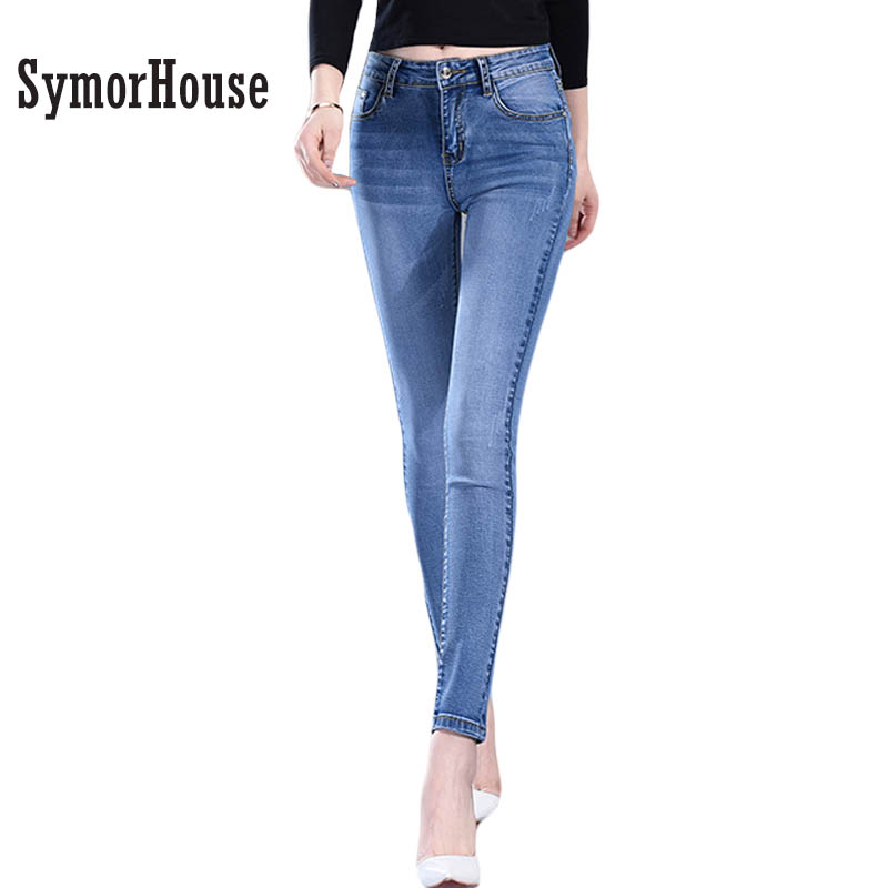 2017 New Fashion Women Pants, Plus Size Stretch Skinny High Waist Jeans Pants Women Blue Pencil Casual Slim denim Pantss inc international concepts plus size new charcoal pull on skinny pants 14wp $59