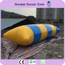 Free Shipping 5*2m 0.9mm PVC Inflatable Trampoline Water Pillow Water Blob Jump Inflatable Jumping
