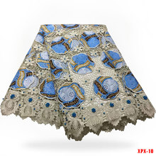 Best quality Wax Lace Fabric (6yards lot) Elegant party African embroidery  ankara wax 0cd660996798