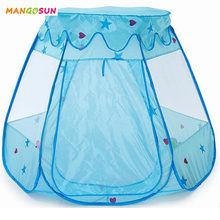 New Play House for Children Kids Ball Pool Breathable Toy Tent with detachable House Top for Boys Girls Pink Tent Best Gift(China)