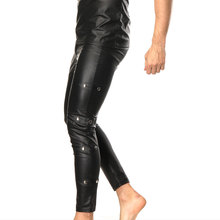 7350938bef8e10 Plus Size Men's fitness Leggings Pants Stage Performance Sexy Lingerie Men  Latex Faux Leather PVC Gay