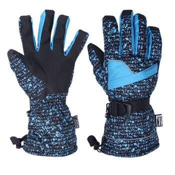 男性トップ品質スキー手袋厚みの暖かい防風雪スキー手袋スノーボードサイクリングオートバイスノーモービル冬のスポーツ手袋