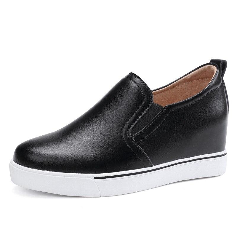 Stetig Lefoche 2019 Frauen Aus Echtem Leder Atmungsaktivem Wilden Ins Lässig Flach Slip-on Flache Schuhe Kunden Zuerst Frauen Schuhe