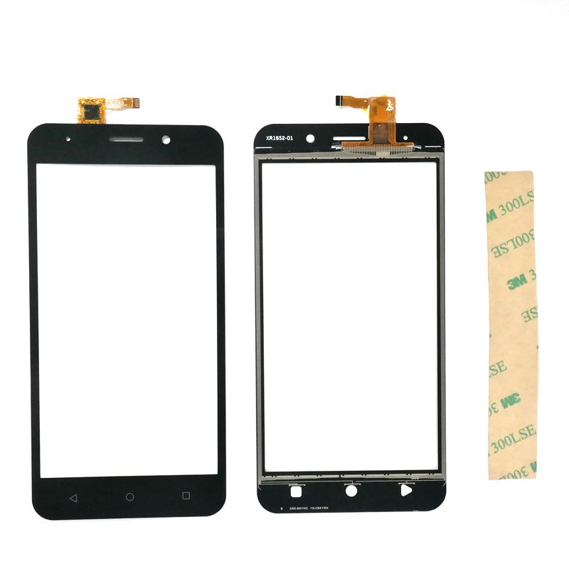 5.0 Inch For INOI 2 Lite / INOI 2 Touch Screen Digitizer Front Glass Lens Black Gold Color With 3m Stickers