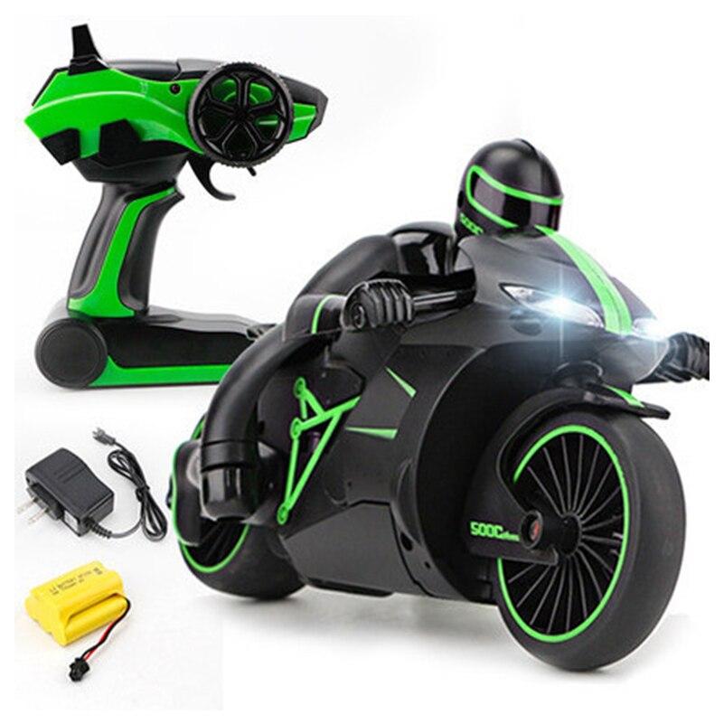2,4 г Мини Мода RC мотоцикл с холодный свет высокой Скорость RC Мотоцикл модель игрушки дистанционного Управление Drift Мотор Детские игрушки для...