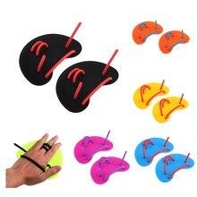 Guantes de natación Unisex, aletas con dedos, palma, para entrenamiento, buceo, surf, deportes acuáticos, para niños y adultos, 1 par