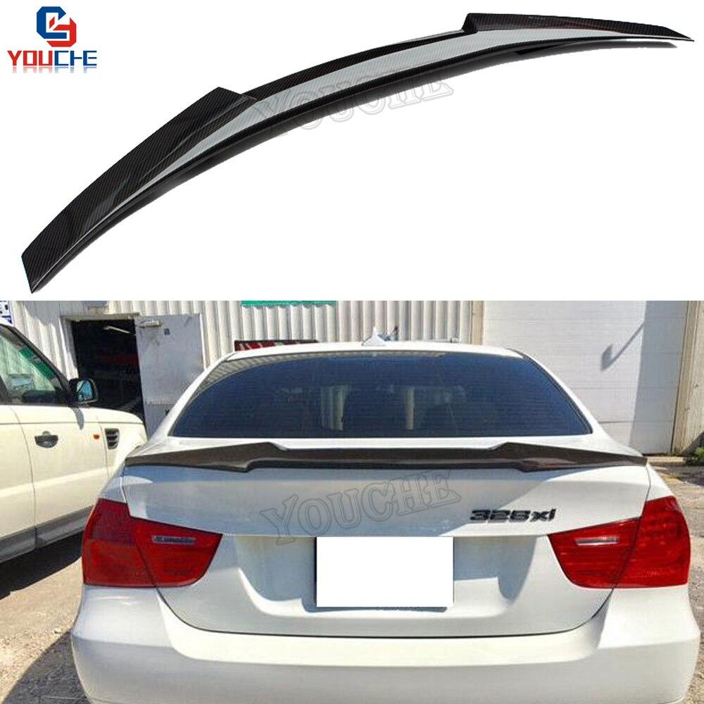 E90 M4 Style Carbon Fiber Rear Spoiler Wing For BMW 3 Series E90 4 Door Sedan