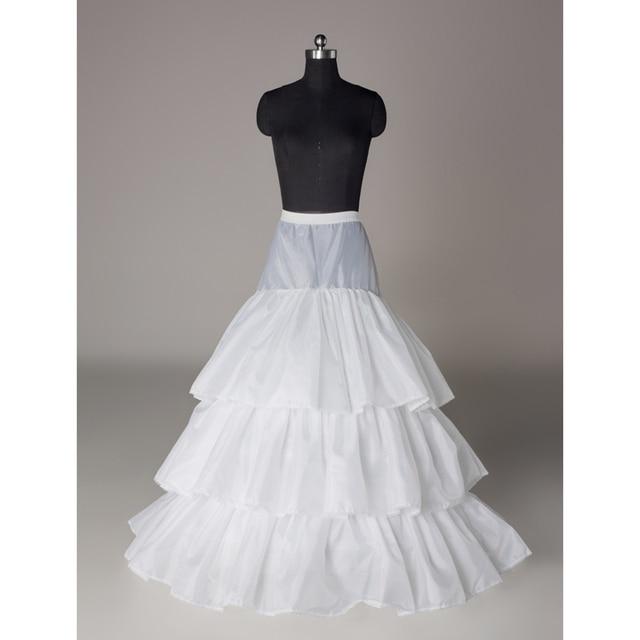 Aros de tren crinolina enagua nupcial del vestido de boda de deslizamiento falda 3 Capas ENAGUAS de Novia
