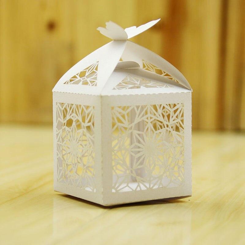 10 шт. Романтический свадебной Снежный DIY конфеты Cookie Подарок Коробки Свадебная вечеринка конфеты коробка с лентой 23 Цвета Chirstmas день