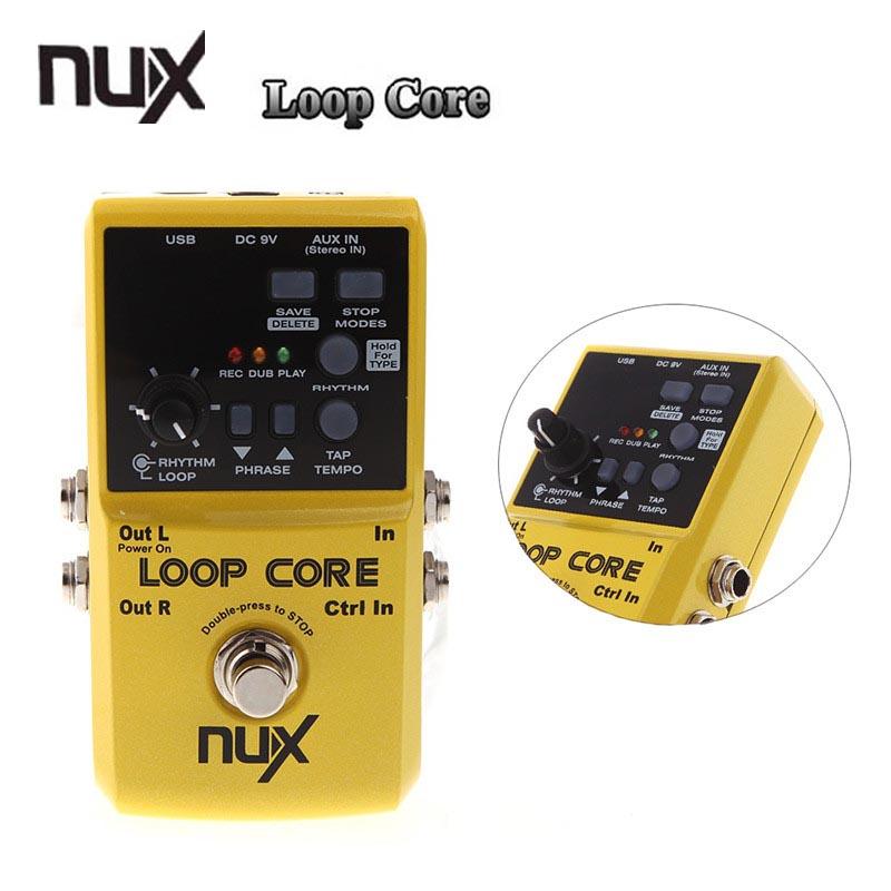 Prix pour Nux boucle core violao guitare pédale d'effet/durable guitarra pédale d'effet 6 heures d'enregistrement guitare accessoires