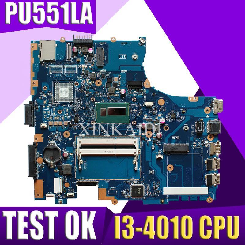 XinKaidi  PU551LA Laptop Motherboard For ASUS PU551LD P551L PU551LA PRO551L Test Original  Mianboard I3 CPU