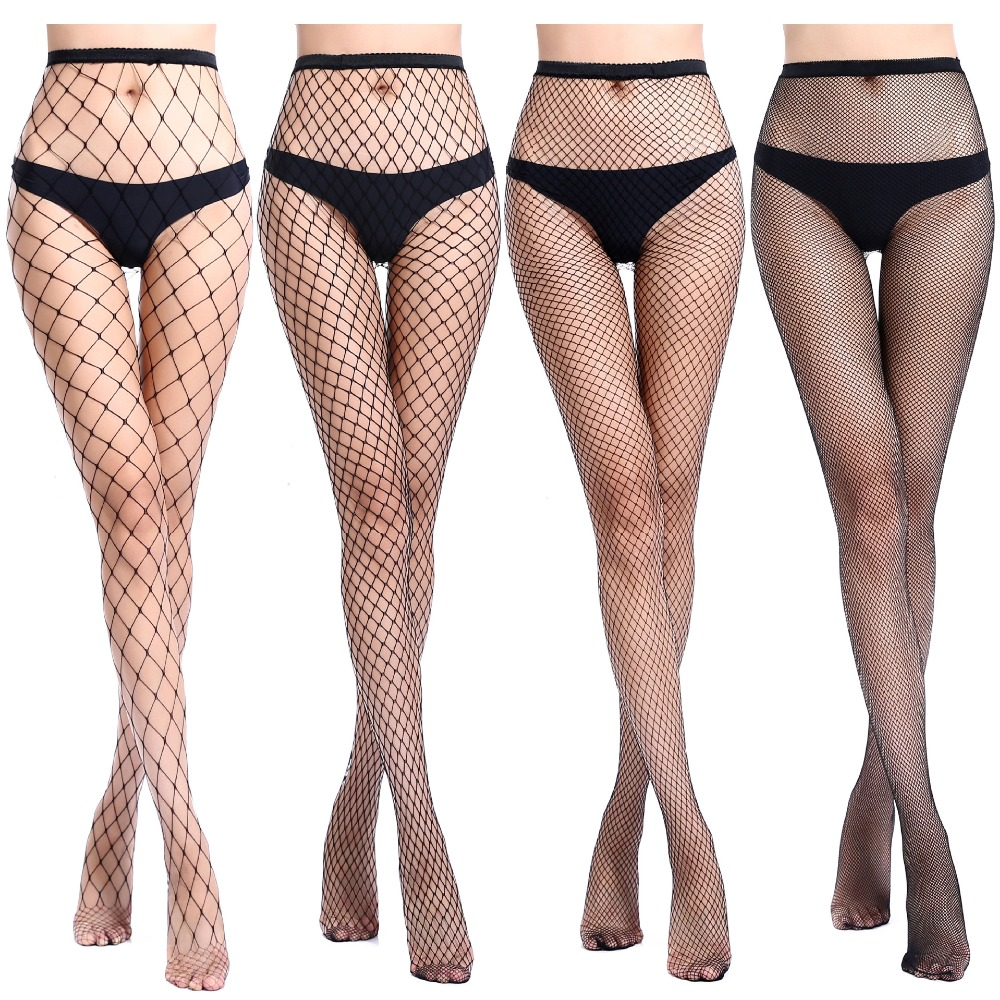 Hot Selling Women's Long Sexy Fishnet Stockings Fish Net Pantyhose Mesh Stockings Lingerie Skin Thigh High Stocking S07
