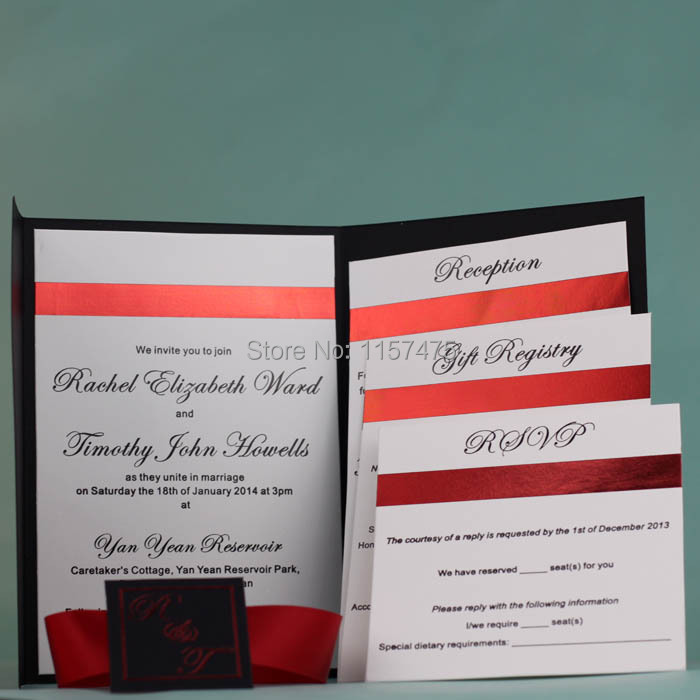 Pocket Fold Envelope For DIY Invitations Cards Style Wedding Customized