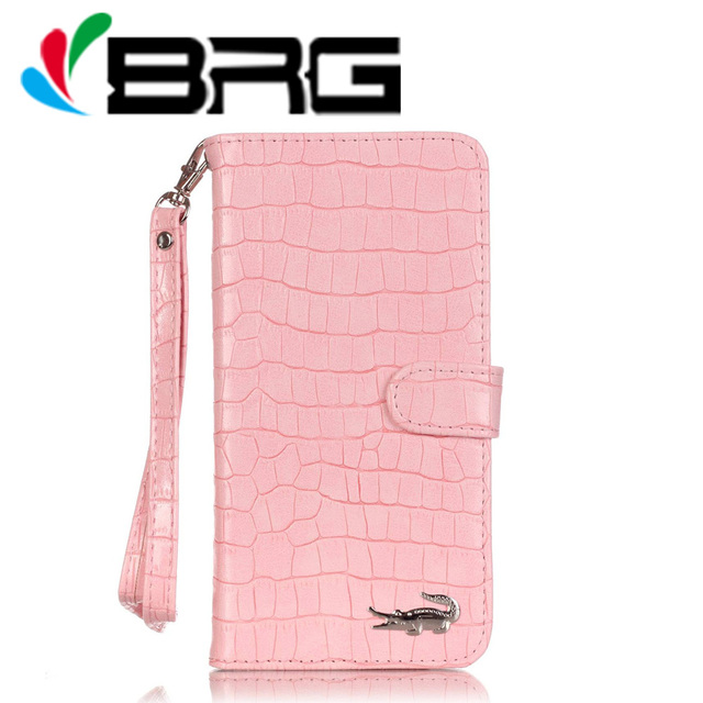 Luxury Crocodile Wallet Leather Case For iPhone 5 5S 6 7 8 Plus X Xs Flip Stand Cover Free Hand Strap