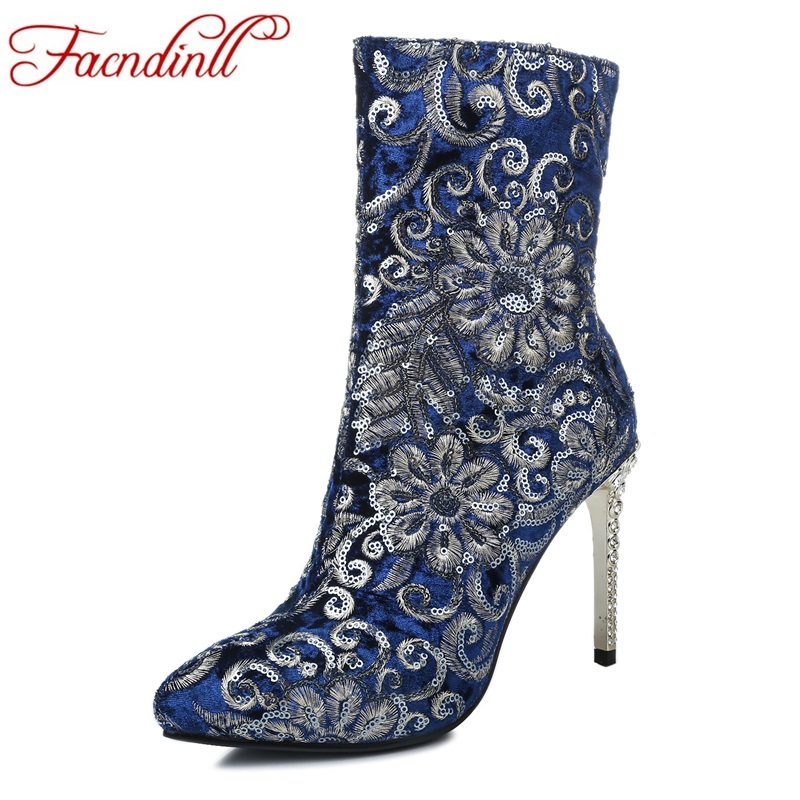 FACNDINLL shoes 2018 new spring women ankle boots sexy thin high heels round toe shoes woman dress party wedding shoes boots facndinll shoes 2017 genuine leather women ankle boots sexy thick high heels pointed toe lace up shoes woman dress party shoes
