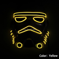 10 Color NEW Arrive EL Wire Flashing Star Wars Mask Neon Glowing Party Decor LED Mask