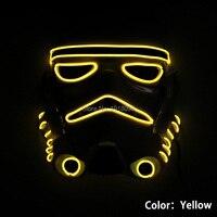 Chegam NOVAS Piscando Máscara de Star Wars de Incandescência EL fio Neon LED iluminação Do Feriado de Halloween Light-up Máscara + DC-3V Driver de som Ativa