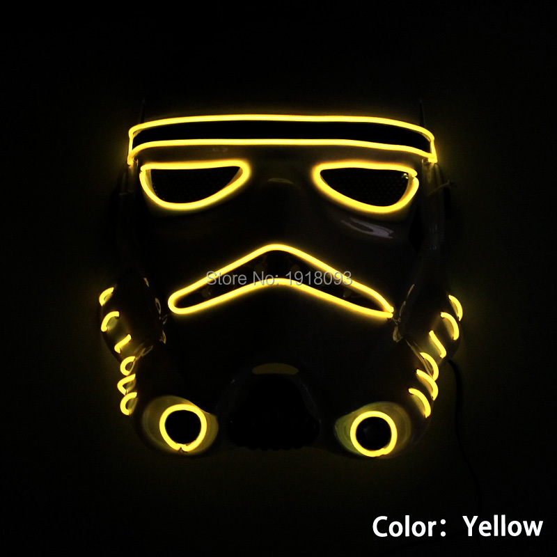 new arrive flashing star wars glowing el wire mask led neon holiday lighting halloween light - Halloween Lights Thriller